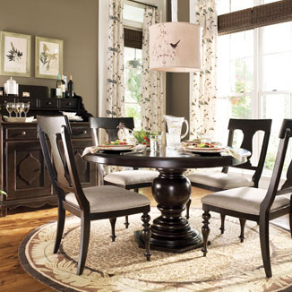 round pedestal table - Pedestal Kitchen Table